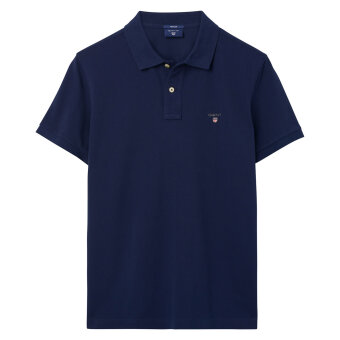 Gant - Gant - Solid Pique Rugger | Polo T-shirt Evening Blue