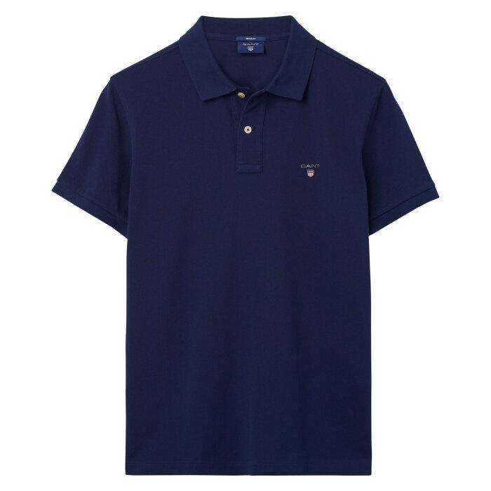Gant - Gant - Solid Pique Rugger | Polo T-shirt Evening Blue