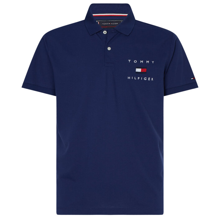 Tommy Hilfiger  - Tommy Hilfiger - Logo Embroidery | Polo T-shirt Blue ink