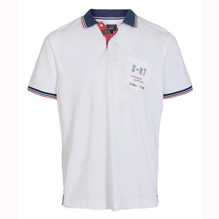 Signal - Signal - Kasper Fine Pique | Polo T-shirt White