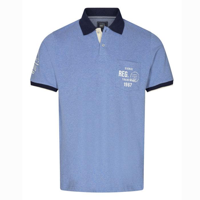 Signal - Signal - Pingo Polo SP20   Polo T-shirt Clear Blue Melange