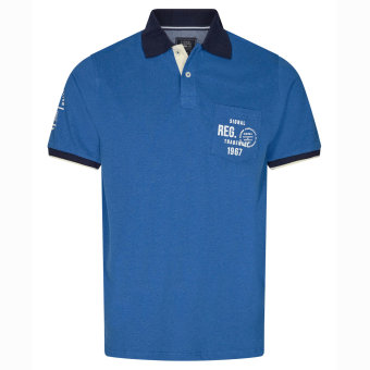 Signal - Signal - Pingo Polo SP20 | Polo T-shirt Strong Blue Melange