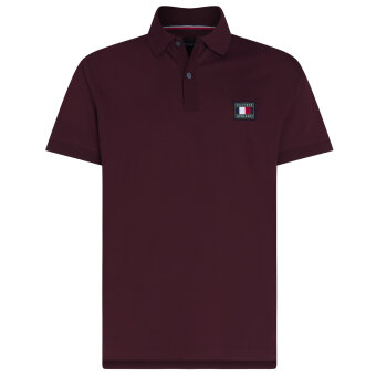Tommy Hilfiger  - Tommy Hilfiger - Badge | Polo T-shirt Deep Burgundy
