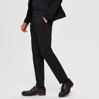 Selected - Selected - Miles Flex | Chino Black