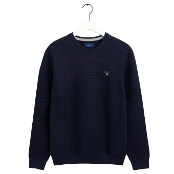 Gant - Gant - Triangle Texture Crew | Strik Evening Blue