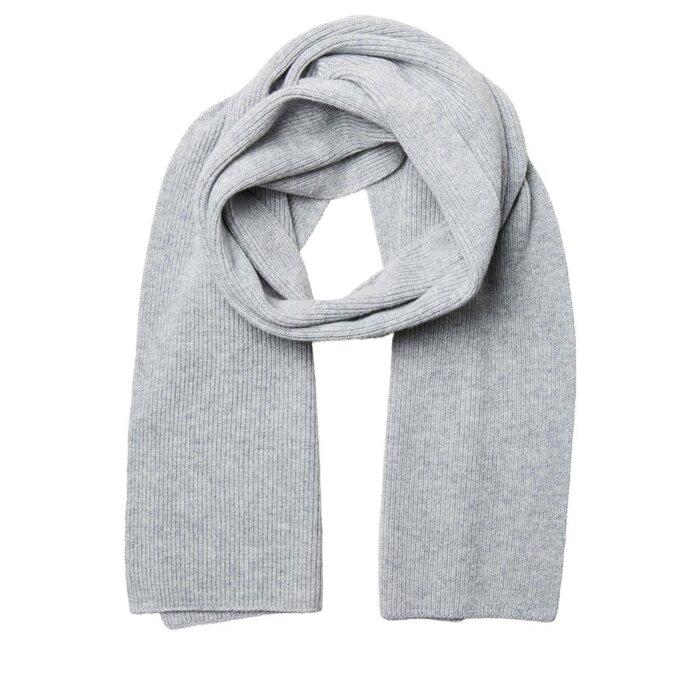 Selected - Selected - Cray scarf | Halstørklæde Light Grey Melange