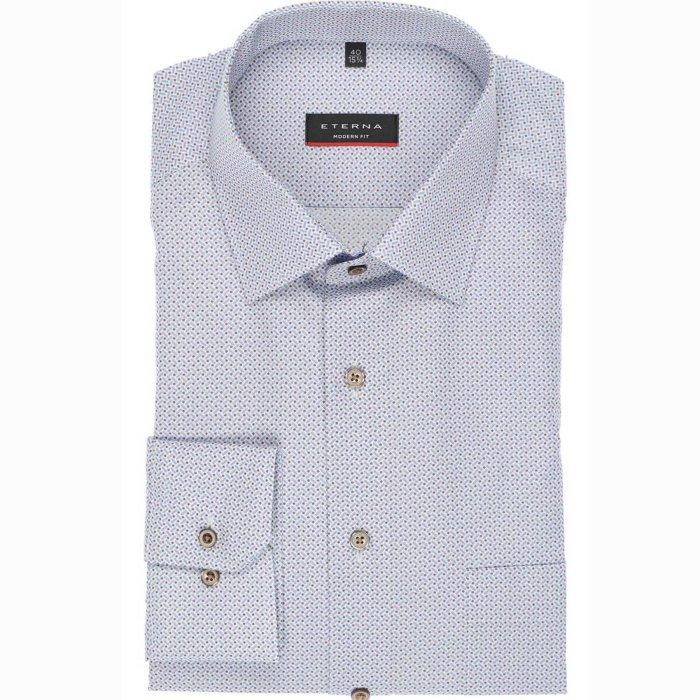 Eterna - Eterna - 3367   Modern Fit Skjorte 12 Lysblå