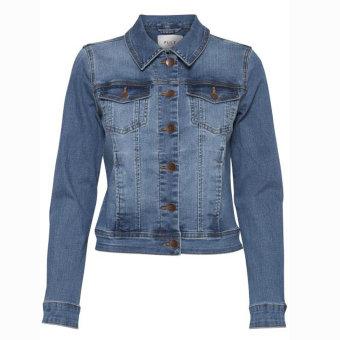 Pulz Jeans ( Dame )  - PULZ - PZSIRA DENIM JACKET   Cowboyjakke Light Blue
