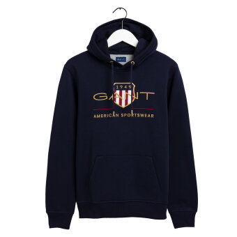 Gant - Gant - Archive shield hoody | Sweatshirt Evening blue
