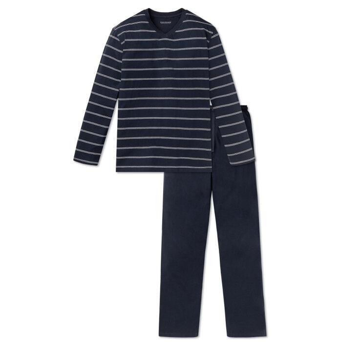 Schiesser - Schiesser - Jersey Pyjamas   Mørk Blå