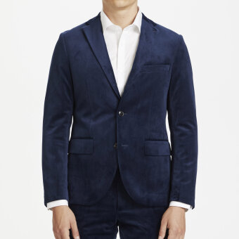Matinique - Matinique - George velvet blazer | Velour Habitjakke Dark Navy