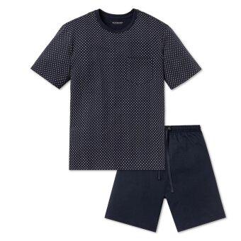 Schiesser - Schiesser - Jersey Pyjamas K/Æ | Blå Mønster