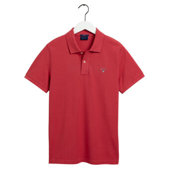 Gant - Gant - Solid Pique Rugger | Polo T-shirt Cardinal Red