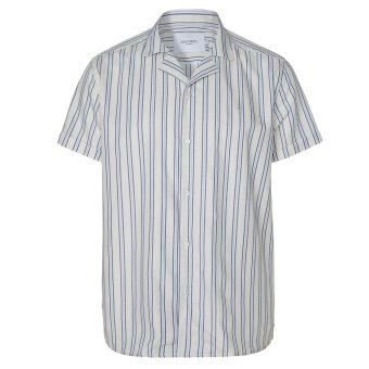 LES DEUX - Les Deux - Simon stripe ss shirt | K/Æ Skjorte Off White