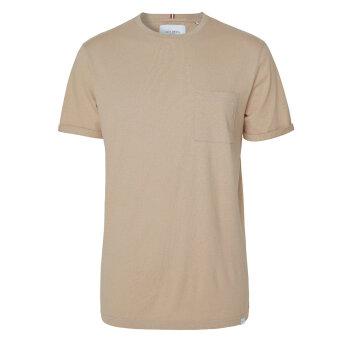 LES DEUX - Les deux - Brennon linen tee | T-shirt Dark Sand