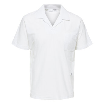 Selected - Selected - Albion polo ss | Polo T-shirt Bright White