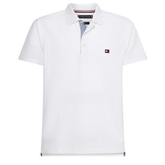 Tommy Hilfiger  - Tommy HIlfiger - Seersucker Polo | Polo T-shirt White