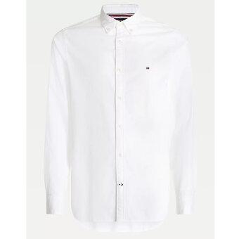 Tommy Hilfiger  - Tommy Hilfiger - TH Flex dobby slim shirt | Skjorte Hvid