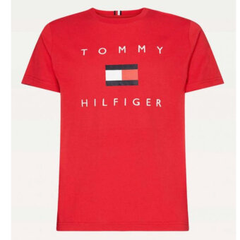 Tommy Hilfiger  - Tommy Hilfiger - Flag Print Organic | T-shirt Primary Red