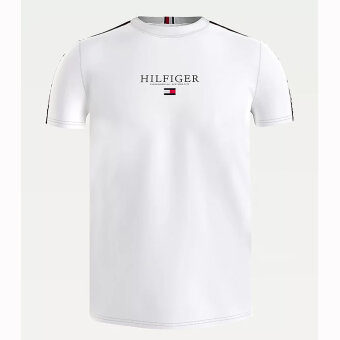 Tommy Hilfiger  - Tommy Hilfiger - Organic Taped tee | T-shirt White