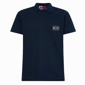 Tommy Hilfiger  - Tommy Hilfiger - Icon badge polo | Polo T-shirt Desert Sky