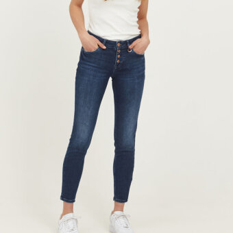 Pulz Jeans ( Dame )  - PULZ - PZANNA | JEANS DARK BLUE D SÆ NOS