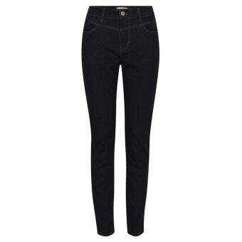 Pulz Jeans ( Dame )  - PULZ - PZEMMA | JEANS SKINNY LEG RAW BLUE DENIM