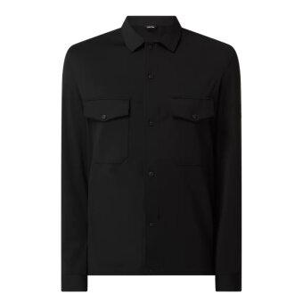 Calvin Klein  - Calvin Klein - Jersey Knit   Overshirt Black