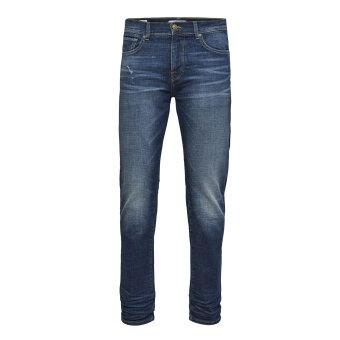 Selected - Selected - Leon slim denim   Jeans Dark blue denim