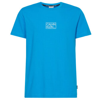 Calvin Klein  - Calvin Klein - Chest box | Logo T-shirt Blue aster