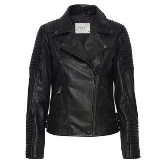 Pulz Jeans ( Dame )  - PULZ - PZMARLY JA   SKINDJAKKE BLACK BEAUTY