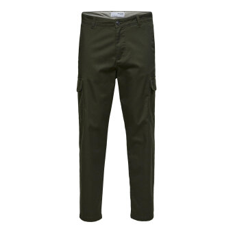 Selected - Selected - Gainford cargo | Chino bukser Forest night