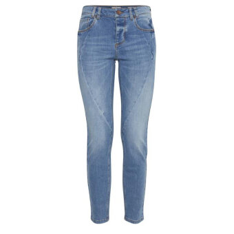 Pulz Jeans ( Dame )  - PULZ - PZROSITA | MIDWAIST JEANS 200008 LIGHT BLUE DENIM