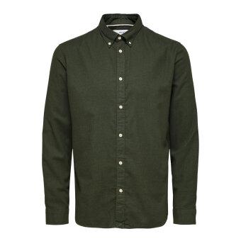 Selected - Selected - Flannel | Skjorte Darkest spruce mel.