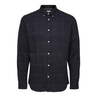 Selected - Selected - Flannel   Skjorte Darkest spruce box