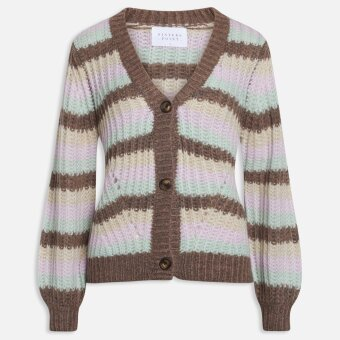 Sisters Point ( Dame ) - SISTERS POINT - LYA-V.CA3 KNIT | CARDIGAN BROWN MINT