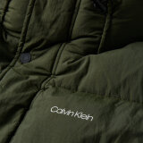 Calvin Klein  - Calvin Klein - Crinkle nylon long jacket   Vindjakke Dark Olive