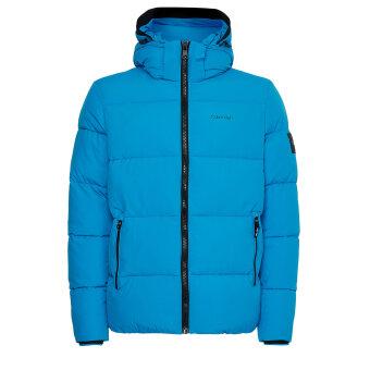 Calvin Klein  - Calvin Klein - Crinkle nylon puffa jacket | Vindjakke Blue Aster